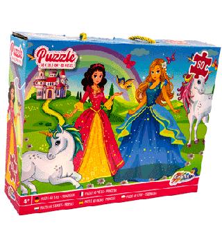 Vloerpuzzel prinsessen 60st.