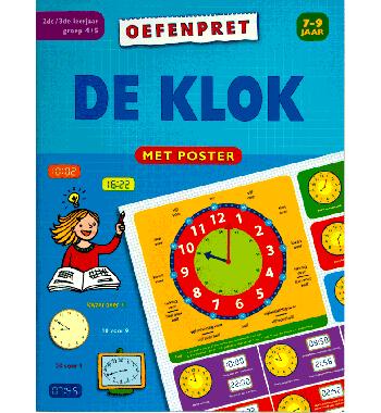 Mijn oefenboek met poster De klok