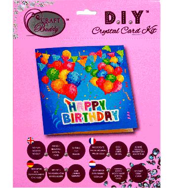 Crystal Card Kit A1 Happy Birthday 18x18cm