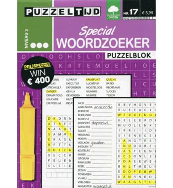 Puzzelblok Woordzoeker Special 3 punt nr 17
