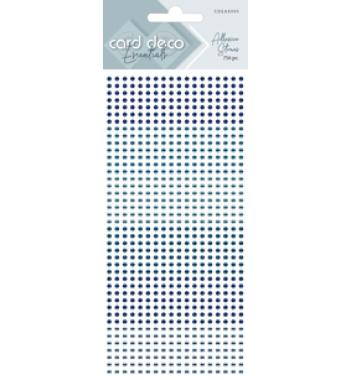 Zelfklevende glitterstenen blauw Card Deco Essentials