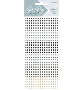 Zelfklevende glitterstenen grijs Card Deco Essentials