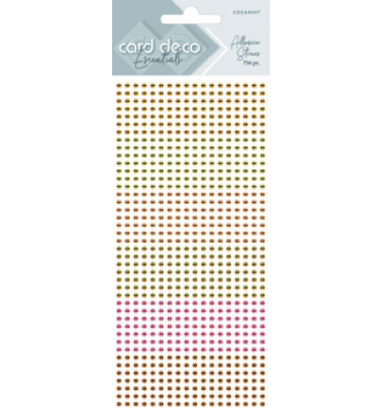 Zelfklevende glitterstenen geel Card Deco Essentials