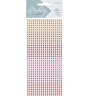 Zelfklevende glitterstenen rood Card Deco Essentials