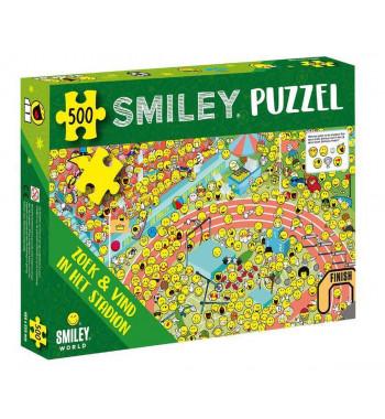 Legpuzzel Smiley: Zoek en vind in het stadion 500 stukjes