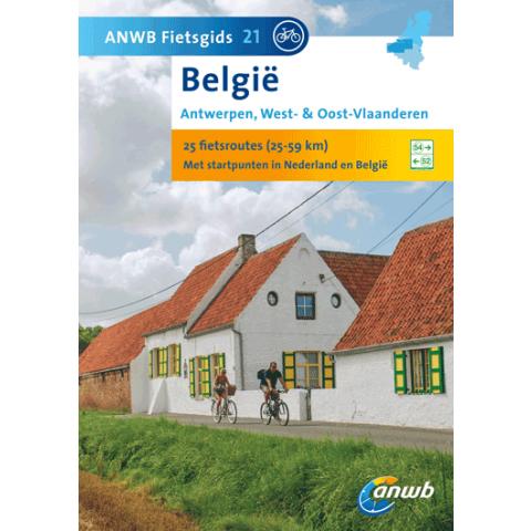 ANWB Fietsgids 21 Antwerpen West & Oost Vlaanderen (Belgie)