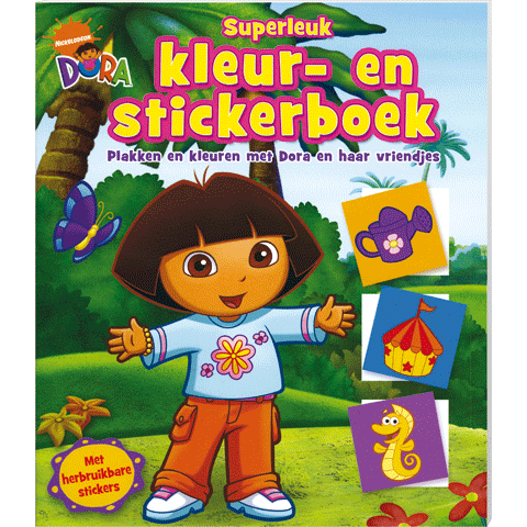 Dora Superleuk Kleur Stickerboek