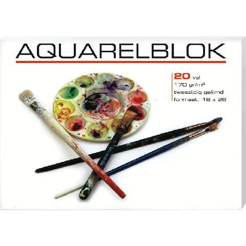 Aquarelblok klein 18x26 cm