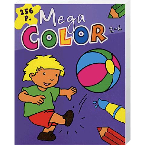 Mega Color Paars Roze 2 tot 6 jaar 256 pagina's