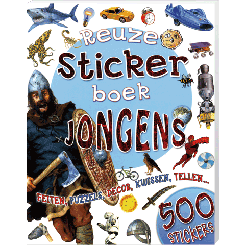Reuze Stickerboek Jongens
