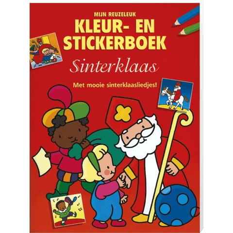 Sinterklaas Kleur en Stickerboek