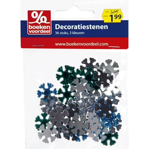 Decoratiestenen Groen-Zilver