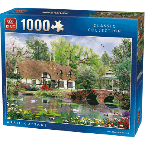 PUZZLE April Cottage (1000 stukjes)