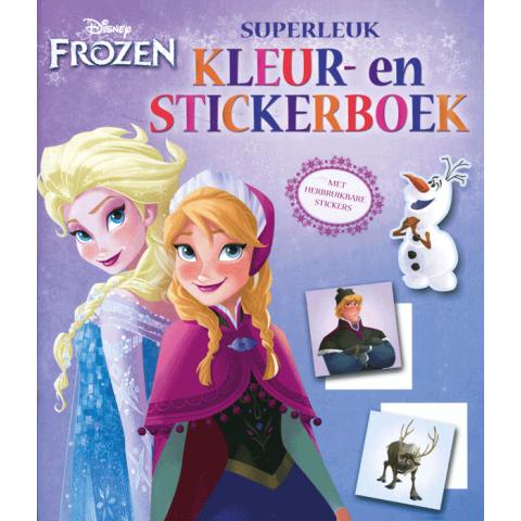 Superleuk Kleur en Stickerboek Frozen