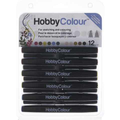 HOBBYCOLOUR STIFTEN 12 STUKS ESSENTIALS