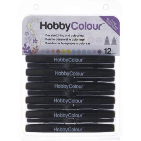 Hobbycolour stiften 12 stuks pastels