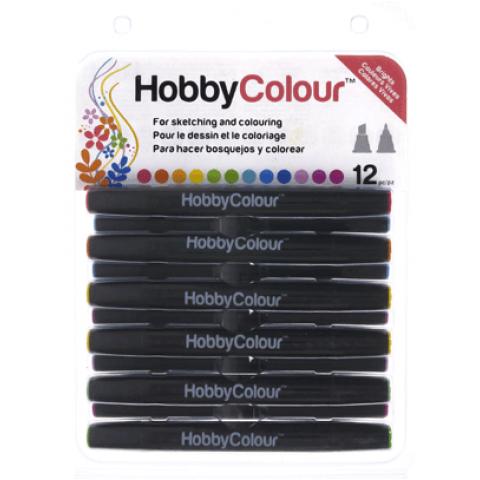 HOBBYCOLOUR STIFTEN 12 STUKS BRIGHTS