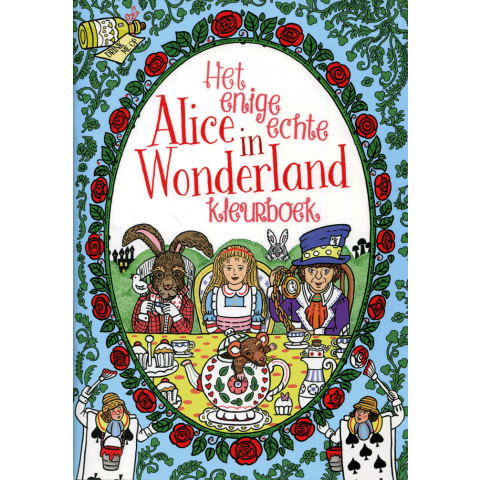 Enige echte Alice in wonderland kleurboek