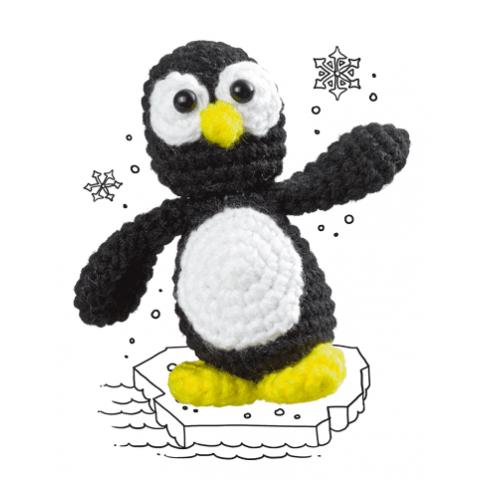 Haakpakket Wollowbies Piet Pinguin