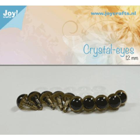 Kristal ogen beige 12 mm