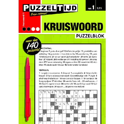 Puzzelblok kruiswoord 2 punt nr 1