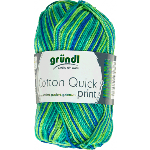 Cotton quick print groen multicolor 50 gram