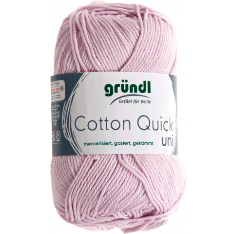 Cotton quick uni roze 50 gram