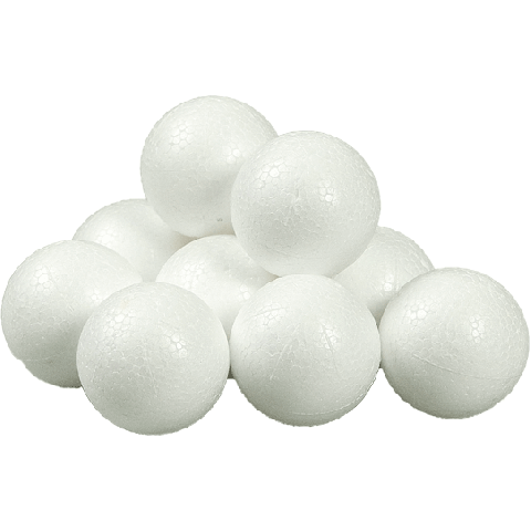 Styropor ballen 3 cm 10ex