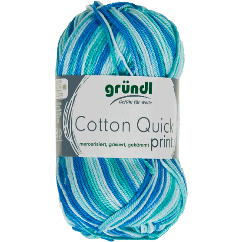 Cotton quick print 183 aqua multicolor 50gram