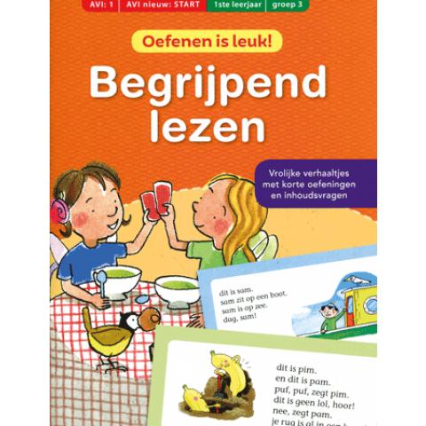 Eerste oefenboek begrijpend lezen avi 1/start