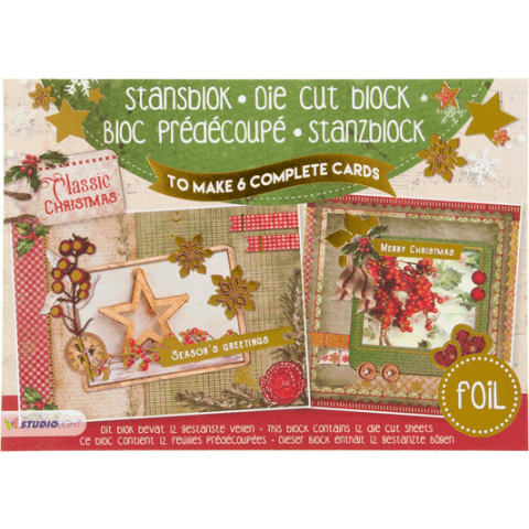 Stansblok A5 classic christmas