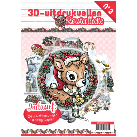 3D uitdrukvellenboek 3 kerstcollectie