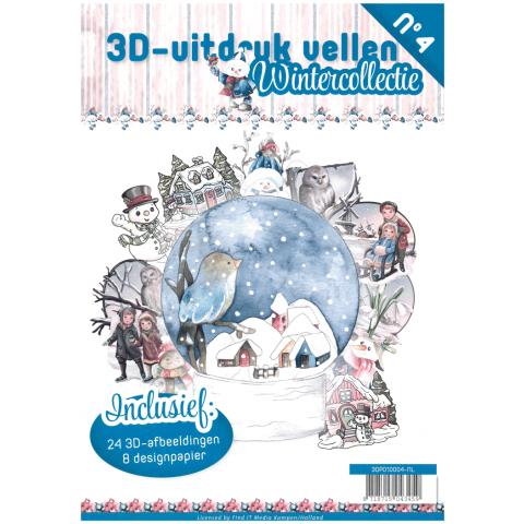 3D uitdrukvellenboek 4 wintercollectie