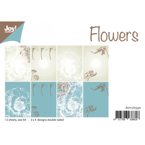 Joy papierset A4 design flowers