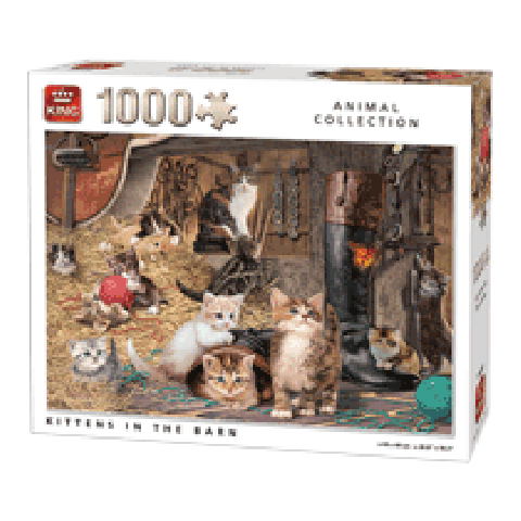 Puzzel Kittens in the Barn (1000 stukjes)