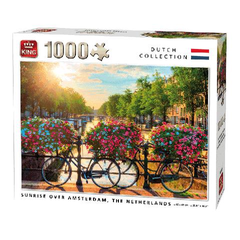 Puzzel Sunrise over Amsterdam (1000 stukjes)
