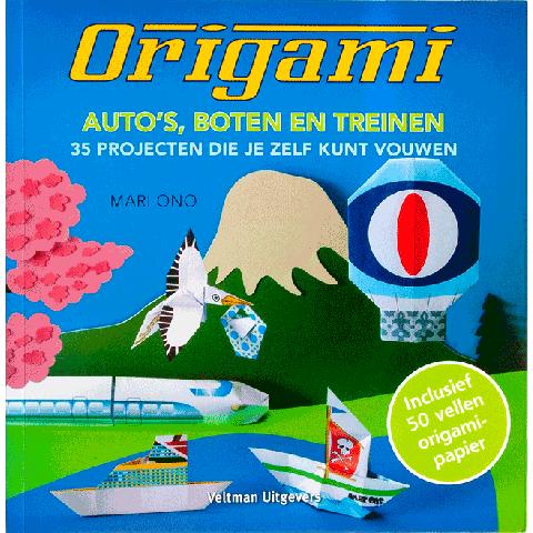 Origami: Auto's, Boten, Treinen