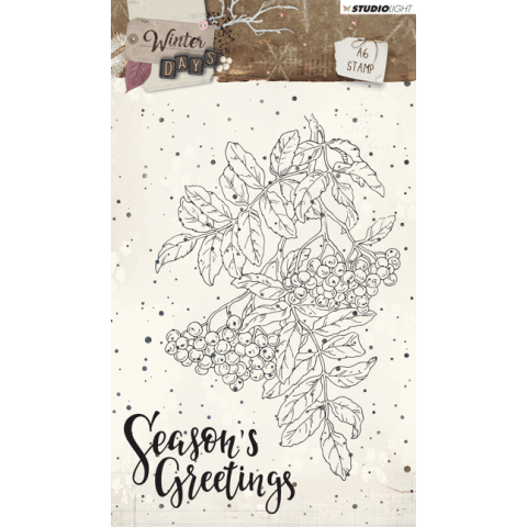 Winter days stempel A6 nr 311 kerst tak season's greetings oktober 2018