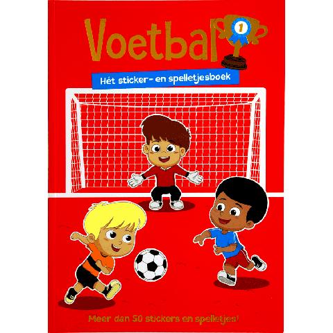 Voetbal sticker- en spelletjes boek