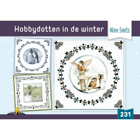 HD231 hobbydotten in de winter incl stickers Aline Smit