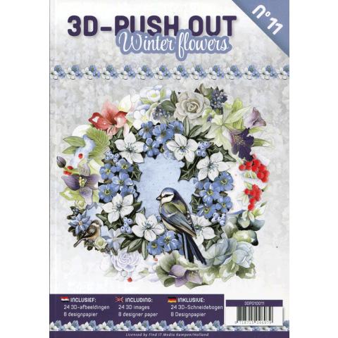 3D uitdrukvellenboek 11 bloemen