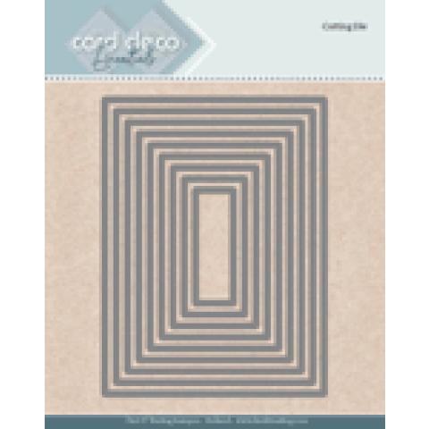 Snijmal Card Deco Rectangle