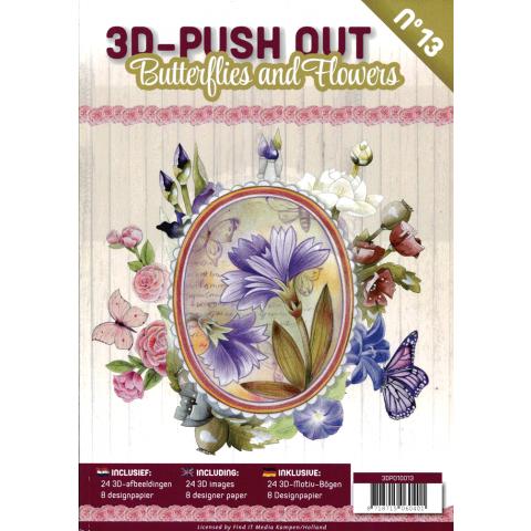 3D Uitdrukvellenboek 13 Butterflies and flowers