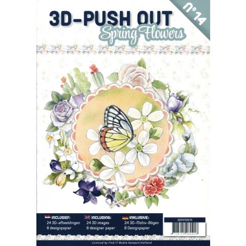 3D uitdrukvellenboek 14 Spring flowers