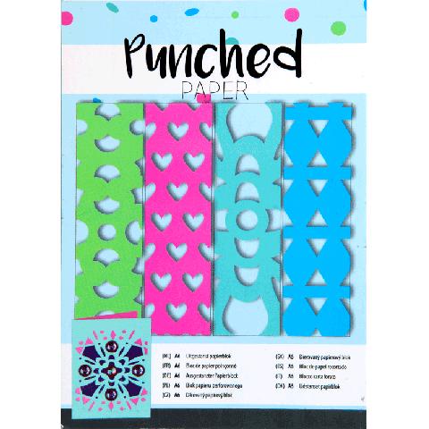 Punched papier blokje 24 vel 3 maten