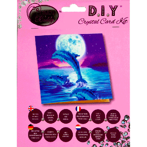 Crystal card kit A11 Dolphins 18x18