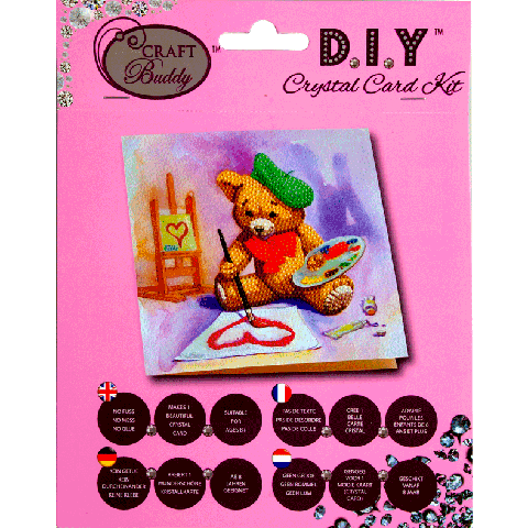 Crystal card kit A16 Teddy 18x18