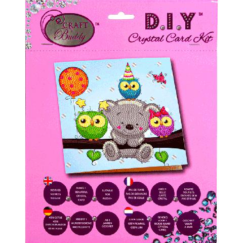 Crystal Card Kit Birthday Friends 18x18cm