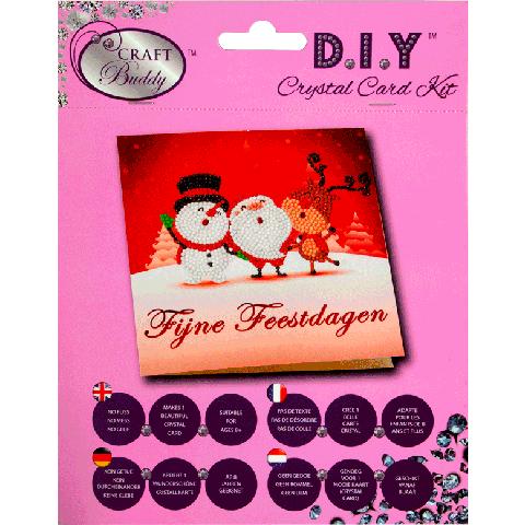 Crystal card kit XMNL1 Sneeuwman, kerstman, rendier 18x18