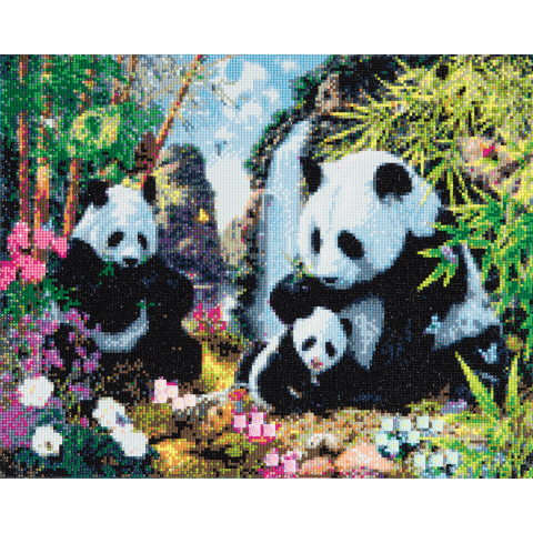Crystal Art Kit panda valley